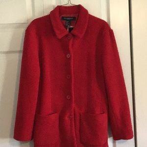 Sandro ladies lined red jacket.